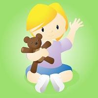 bambina-orsacchiotto