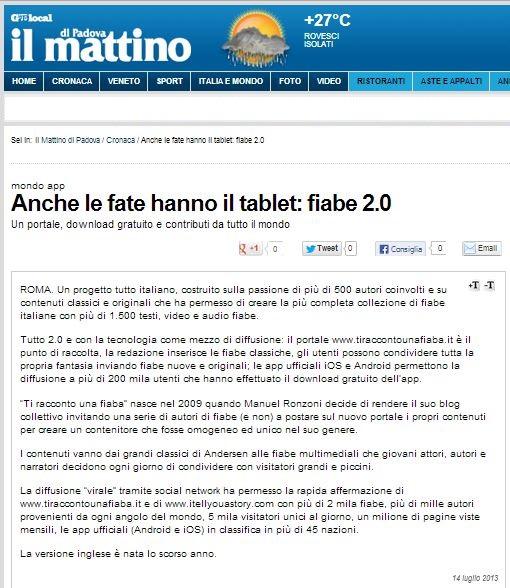 20130714 - Mattino di Padova